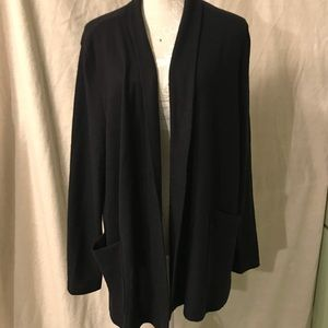 Black ultra soft open front cardigan